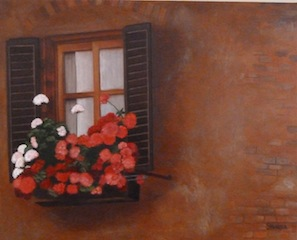 A Window in Tuscany Painting