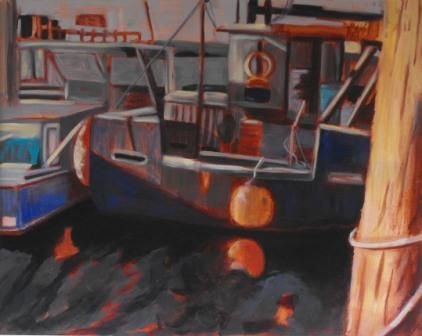 Acrylic Painting - Bay Moorings