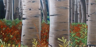Birch Trees 2 Painting