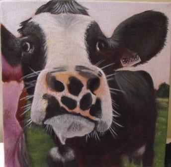 Painting of cow named Chelsea