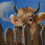 Painting of cow named Wilson